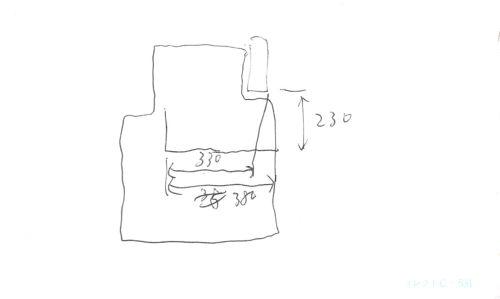 フロアマット 寸法スケッチ図